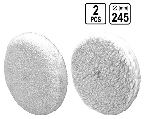 2 Tlg Universal Polierscheibe Polierhaube Polierfell für Poliermaschine