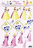 Beauty & The Beast, Cinderella & Sleeping Beauty Disney Princesses 3d Decoupage Sheet