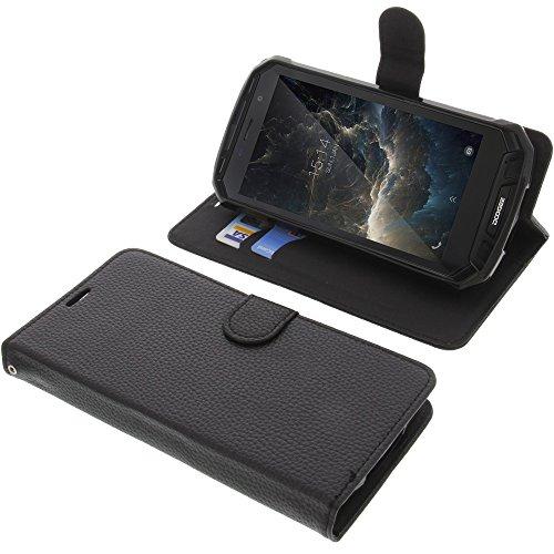 foto-kontor Tasche für Doogee S60 Book Style schwarz Schutz Hülle Buch