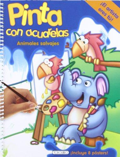 Animales salvajes (Pinta con acuarelas) por Equipo Todolibro