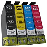 4 komp. XL Druckerpatronen für Epson Expression Home XP 235 245 247 332 335 342 345 342 345 442 445 Epson 29XL