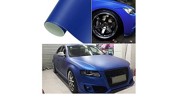 Hoho Dunkelblau Matt Wrap Vinyl Aufkleber Auto Fahrzeug Styling Folie Mit Air Bubble Frei 152 4 Cm X98ft Rolle Auto