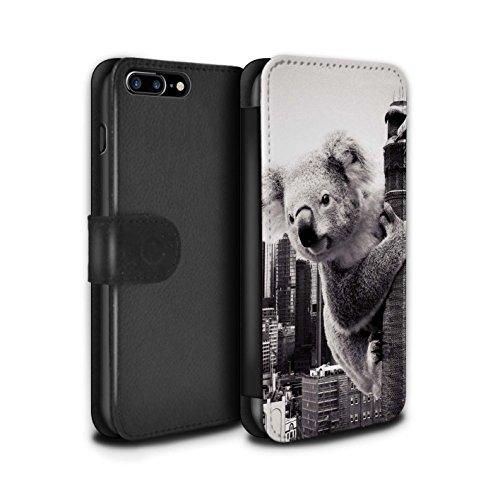 Stuff4 Coque/Etui/Housse Cuir PU Case/Cover pour Apple iPhone 8 Plus / Barbecue/BBQ Design / Vers Bas Sous Collection Roi Koala