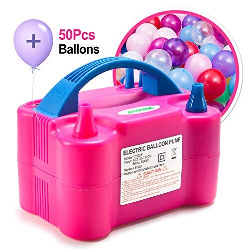 agptek pompe lectrique plus 50 pcs ballons pour ballons de baudruche 110v 600w gonfleur. Black Bedroom Furniture Sets. Home Design Ideas