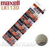 Maxell LR1130 Battery, 1.5V Micro Alkaline Button Coin Cell (10 Pieces)