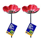 Set of 2 x Gardman Wild Bird Poppy Dish Feeders