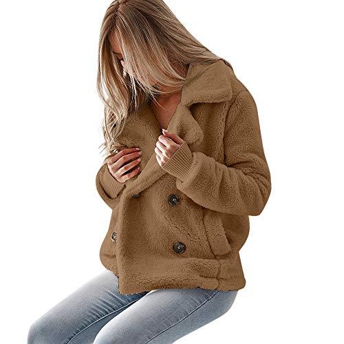 Damen Plüsch Mäntel 2018 Neu Outwear Herbst Winter Pullover Solide Wintermantel Warme Winterjacke Felicove