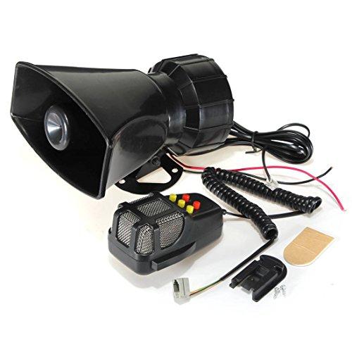 Preisvergleich Produktbild AUDEW 5 Sounds Hupe Sirene Alarm Horn Signalhorn Lautsprecher 50W 12V für Auto Motorrad