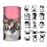 Wfispiy Fascia per Capelli Cute Cat Copricapo Multifunzionale per Esterni 16 Modi per Indossare la Tua Sciarpa Magica per Cappelli