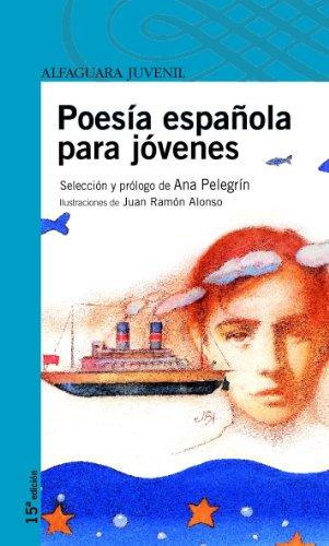 Portada del libro Poesía española para jóvenes (Serie azul)