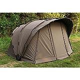 Fox Retreat+ Ripstop 2-man Angelzelt + Innenzelt zum Karpfenangeln, Karpfenzelt, Anglerzelt, 2-Mann-Zelt, Zelt für 2 Person zum Nachtangeln