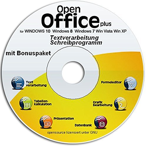 Open Office Suite - Home Student Professional 2019 DEUTSCH 100% kompatibel mit Microsoft® Office® Word® und Excel® für Windows 10-8-7-Vista-XP Schreibprogramm, Textprogramm
