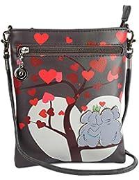 Stylish Multi Color Printed PU Leather Sling Bag For Girls / Women / Ladies 3 Zipper Pocket Cross Body Bag By... - B073RKFHYM
