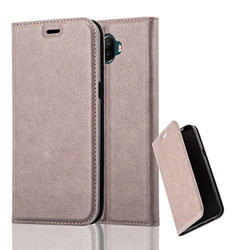 Cadorabo Hülle für WIKO WIM - Hülle in Kaffee BRAUN – Handyhülle mit Magnetverschluss, Standfunktion und Kartenfach - Case Cover Schutzhülle Etui Tasche Book Klapp Style