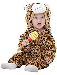 MICHLEY Mameluco Pelele Bebé Niños Niñas de primavera y otoño Franela Traje de animales