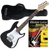 Rocktile Sphere Junior E-Gitarre 3/4 Schwarz + Gitarren-Schule