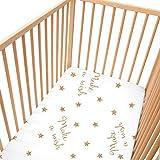Make a wish Lot de 2 draps housse Pati'Chou pour lit bébé 70x140 cm