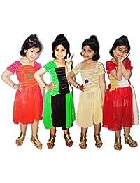 cc775454c IPP Baby Girl's Birthday Frock Chiffon Crop Dress Cute Pastel Cotton Fabric  (Multicolour, 4