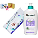 Himalaya Herbals Baby Lotion (400ml)+Himalaya Herbals Gentle Baby Wipes (72 Sheets) With Happy Baby Luxurious Kids Soap With Toy (100gm)