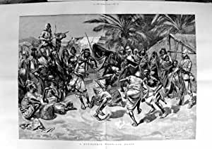 Danse 1887 de Mariage de Soudanese de Scène d'Impression de Beaux-Arts