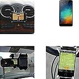 """soporte para coche y para mesa etc. para Xiaomi Redmi Note 3 (32 GB), negro """"araña"""". montaje de la salida aire, espejo retrovisor, bicicletas, etc. Trípode - K-S-Trade (TM)"""