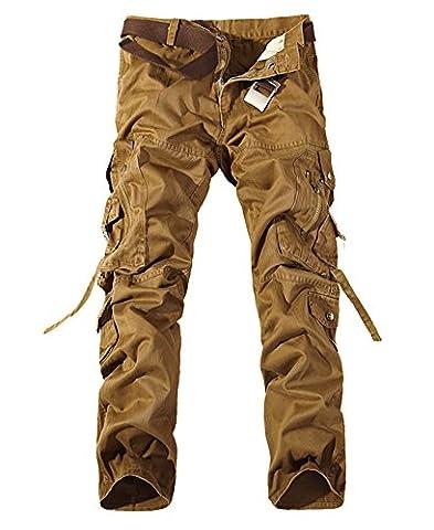 Pantalon Treillis Vintage - Homme Cargo Pantalons Loisir Travail-Multi Poches Vintage