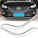 beler Chrome Finish Front Nebel Licht Lampe Augenbraue Trimm Abdeckung Dekoration Dekor Für Mazda 6 Atenza 2013-2016