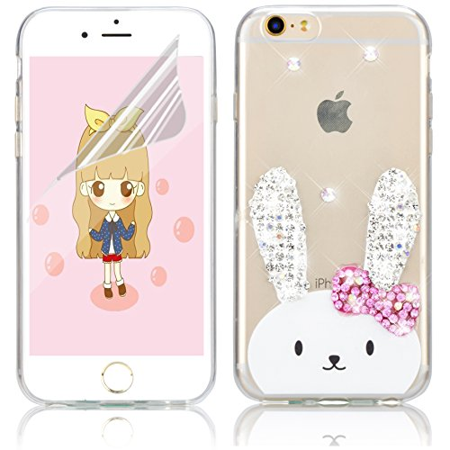 iPhone 4S Silikon Hülle,iPhone 4 Hülle,Sunroyal TPU Case Schutzhülle Silikon Crystal Kirstall Bling Diamant Clear Case Durchsichtig,Gelb Mädchen Malerei Muster Transparent Weichem Silikon Schutzhülle  Pattern 13