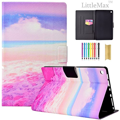 HD 8 Fall - littlemax (TM) [Karten Halterung] Ultra Slim Leicht Dünn PU Leder Ständer FLIP CASE COVER MIT AUTO SLEEP/WAKE-Funktion für Amazon Kindle Fire HD 20,3 cm 6. & 7. Generation - #, 2 Pink Sea (Fire 7, Generation Kindle Fall 2.)