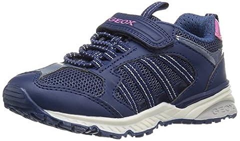 Geox J Bernie A, Sneakers Basses Fille, Bleu (Navyc4002), 35