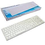 GRUNDIG extra flache Tastatur Slim Design Weiß QWERTZ USB Deutsch Computer dünne Ausführung