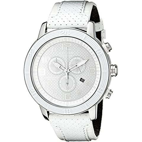 Citizen AT2200-04A Unisex BRT 3.0 Eco-Drive Chronograph White Dial Watch - Citizen Eco Drive Mens Chronograph