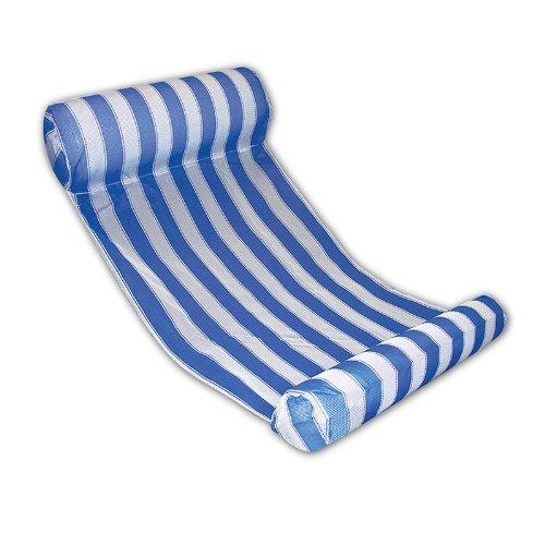 Swim Central 131,4 cm Bleu et Blanc rayé Eau Hamac Chaise Longue de Piscine