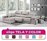 Mueble Sofa con Chaise Longue, tapizado al Gusto, 4 plazas, Subida A Domicilio ref-81
