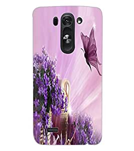 ColourCraft Beautiful Butterfly Design Back Case Cover for LG D722 K