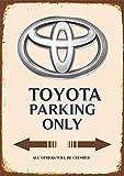 Toyota Parking only blechschild auto motorrad park schild