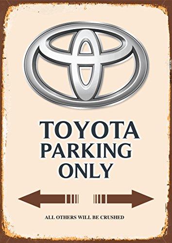 Toyota Parking only blechschild