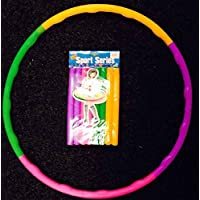 Kids Hula Hoop Adjustable Collapsible Colourful Indoor Outdoor Fitness Gymnastic By RSGLAM