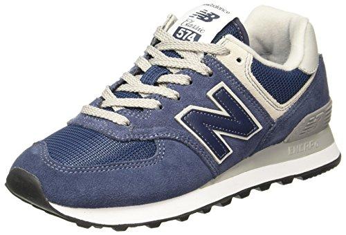 New Balance Damen Sneaker,WL574EN, Blau (Navy/White Melange), 37.5 EU New Navy Schuhe