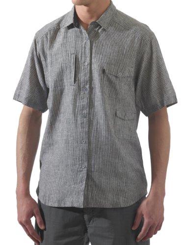 Button-up-shirt (KAVU Herren Hit The Dirt Shirt Kurzarm Button-Up Shirt, Herren, schwarz, X-Small)
