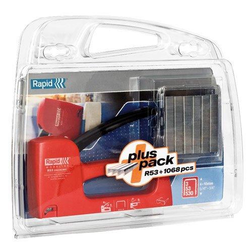 Rapid R53 Tacker + Staples in Plastic Case