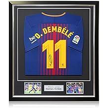 exclusivememorabilia.com Camiseta de Fútbol Barcelona 2017-18 firmada por Ousmane Dembele. En