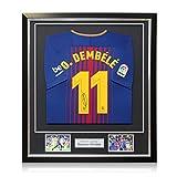 Exclusive Memorabilia Ousmane Dembele - Camiseta de fútbol firmada en  Barcelona (Temporada 2017-18 0ed1351d6b010