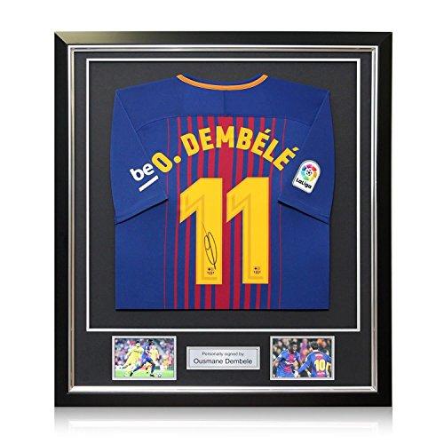Camiseta fútbol firmada y enmarcada - FC Barcelona - Dembele - 2017-2