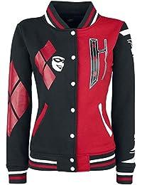 D C Comics Harley Quinn Varsity Jacket Batman Joker Suicide Squad Size 10-16