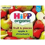 Hipp Fruits Bio Et Morceaux De Pommes Et Fraises 7 + Mois 4 X 100G