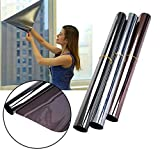 #5: TOTAL HOME: One Way Mirror Silver Insulation Stickers Solar Reflective Window Film For Home Office Window 60CM x 200CM (Size: 1PC)
