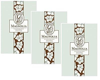 Pack of 3 Magnolia Greenleaf Large Scented Fragrance Sachets from Greenleaf