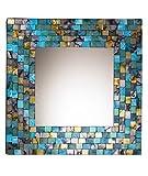 Spiegel, Rahmen im Mosaik-Stil, Türkis und Gold
