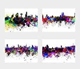 General ART Wanddekoration, Skyline of Cities and